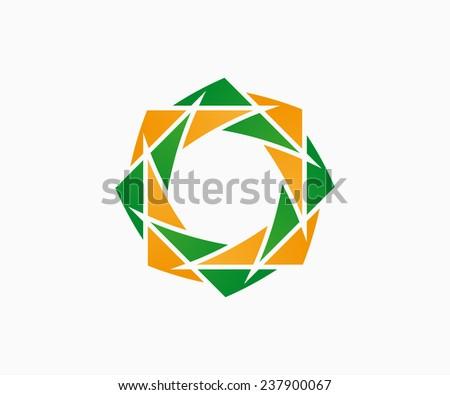 Vector logo design element.  Flower, floral, eco - stock vector