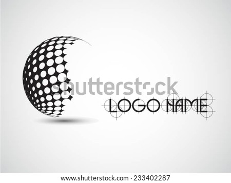 Vector Logo Design Template . Abstract Colorful Stripe Icon . Curved Lines on White Background . Spiral Logo  - stock vector