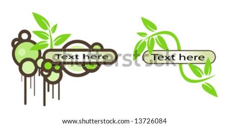 vector logo elements set environmental - stock vector