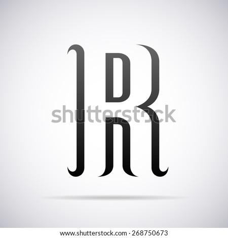 Vector logo for ...R Design Letter