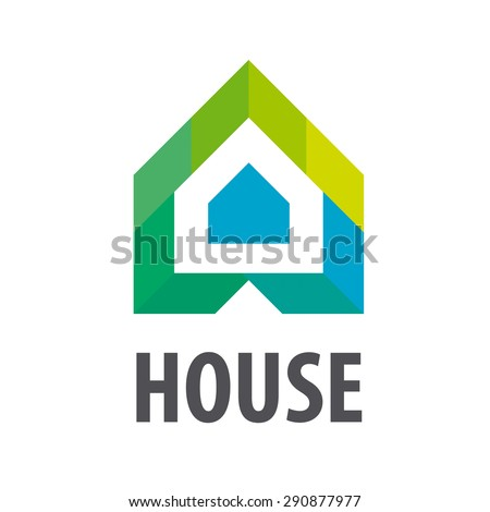 vector logo House in the form of arrows - stock vector