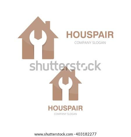 Vector logo of repair of house - stock vector