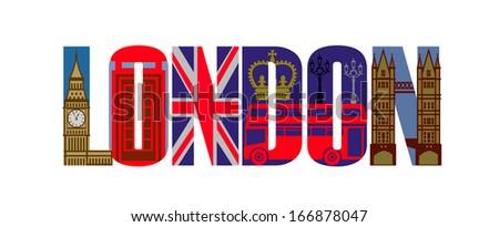 vector london icon set - stock vector