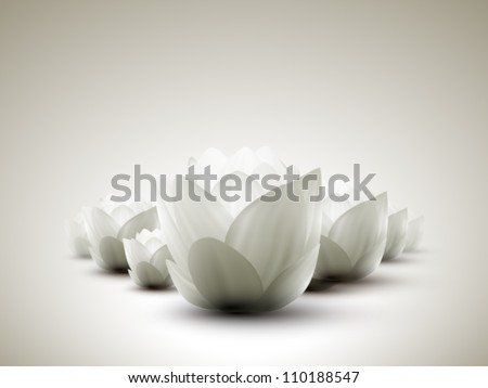 vector lotus petals - stock vector