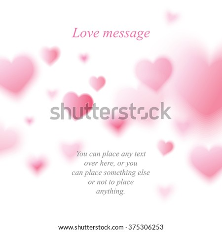 vector love heart postcard background - stock vector