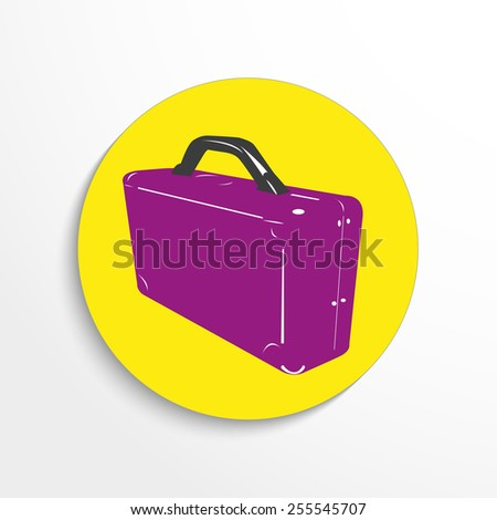 Vector luggage web 3d icon.  - stock vector