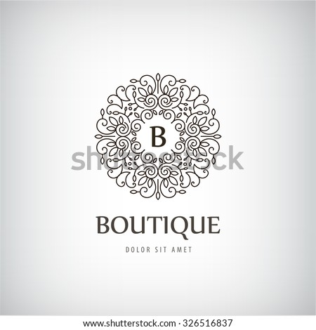 Vector Luxury Vintage logo, icon. Business sign, identity for Restaurant, Royalty, Boutique, Hotel, Heraldic, Jewellery, Fashion ,Real estate, Lion,Resort,King, tattoo, Auctions - stock vector
