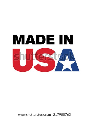 Vector 'Made in the USA' logo  - stock vector