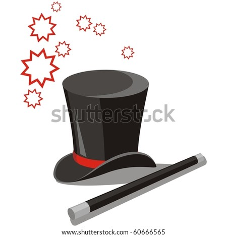 Vector. Magic hat set 02 - stock vector
