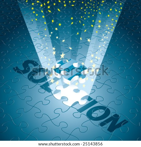 Vector Magical Solution for Business/Technology in Blue - stock vector