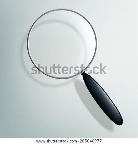 Vector magnifier - stock vector