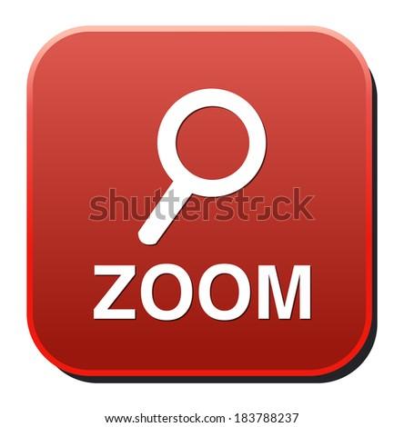 Vector magnifier icon - stock vector
