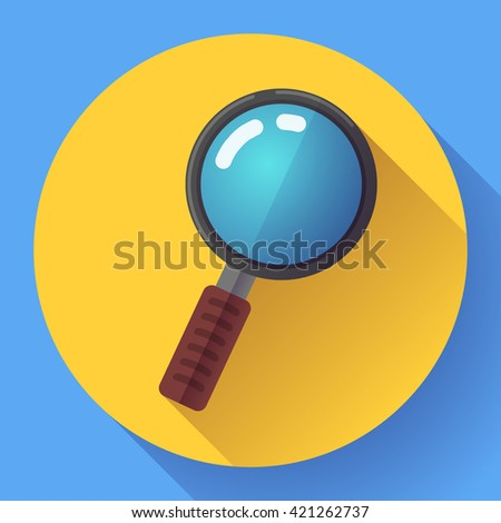 Vector Magnifying Glass Search Icon. Flat design style - stock vector