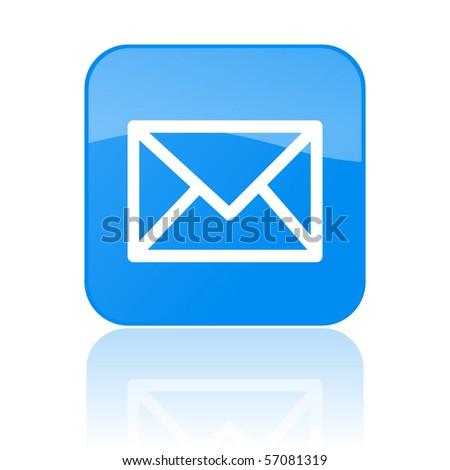 Vector Mail Button - stock vector