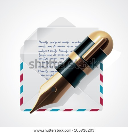 Vector mail icon - stock vector