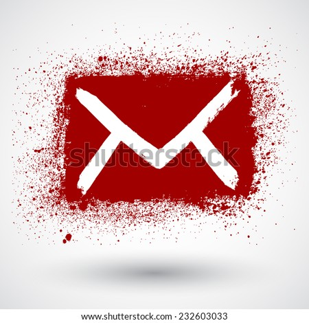 Vector mail isolated, hand drawn - stock vector