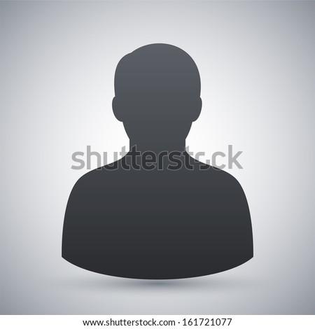Vector male user icon - stock vector
