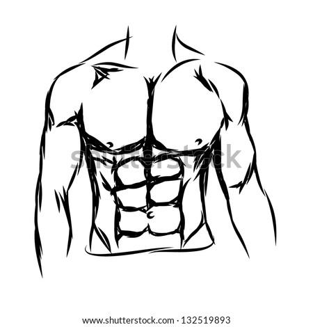 vector man body - stock vector