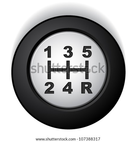 vector manual gear shifter - stock vector