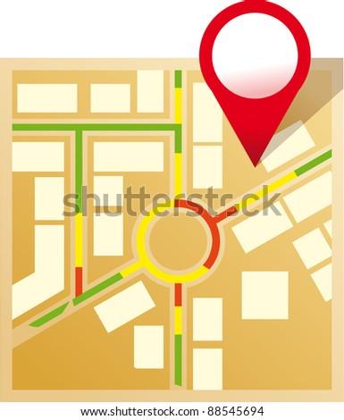 Vector Map Icon Stock Vector