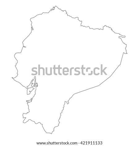 vector map of Ecuador - stock vector
