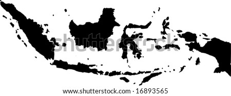 vector map of indonesia - stock vector
