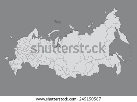 Vector Map of Russian Federation  - stock vector