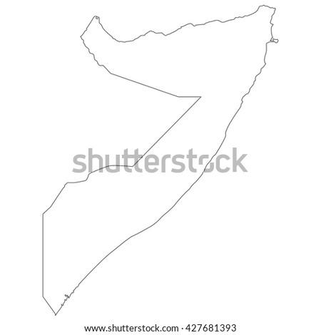 vector map of Somalia - stock vector