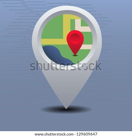Vector map pointer - stock vector
