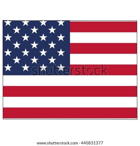 Vector map with US flag inside of Colorado - stock vector