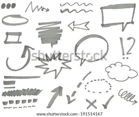 Vector marker elements vol. 1 - stock vector