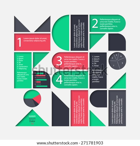 Vector marketing infographic template. High quality design element - stock vector