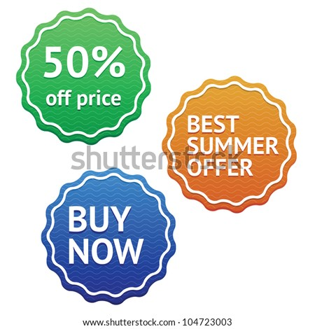 Vector marketing labels set. - stock vector