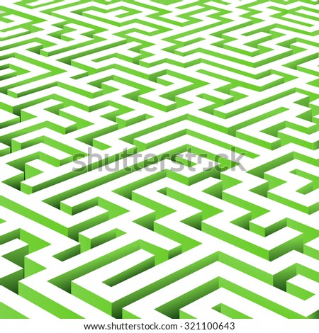 vector maze background - stock vector