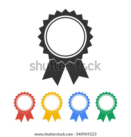 Vector medallion icon. Flat design style eps 10 - stock vector
