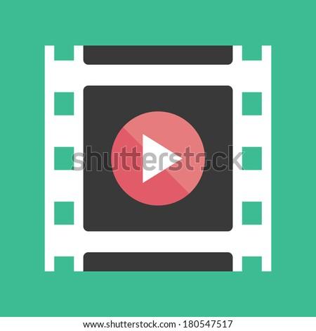 Vector Media Player Icon - stock vector