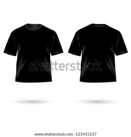Vector. Men's t-shirt design template - stock vector