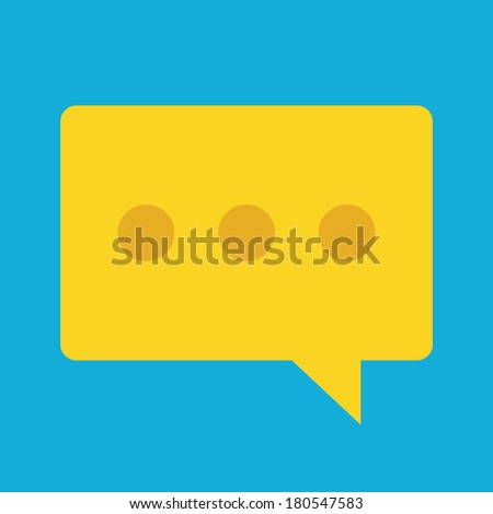 Vector Message Icon - stock vector