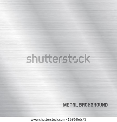 Vector Metal Background Texture - stock vector