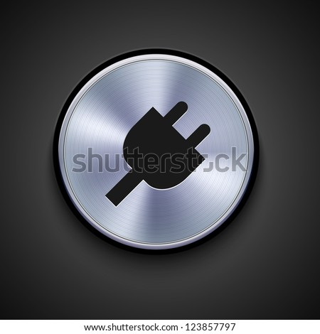 vector metal icon on gray background. Eps10 - stock vector