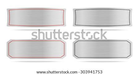 Vector Metallic name plate or Metal label .Vector illustration - stock vector