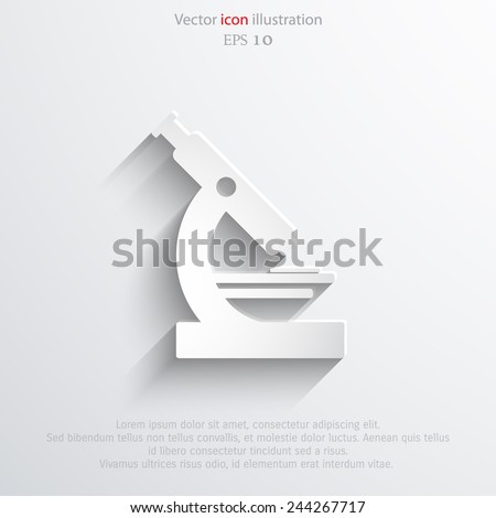 Vector microscope web icon Eps10. - stock vector