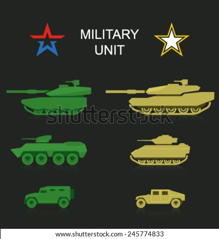 vector military unit 2 - stock vector