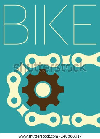 Vector Minimal Design - Bike - stock vector
