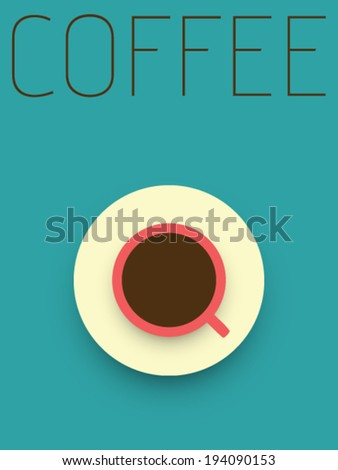 Vector Minimal Design - Coffee - stock vector