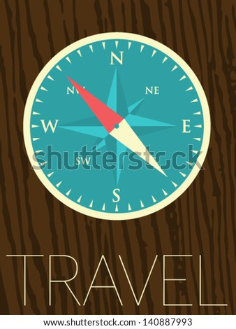 Vector Minimal Design - Compass - stock vector