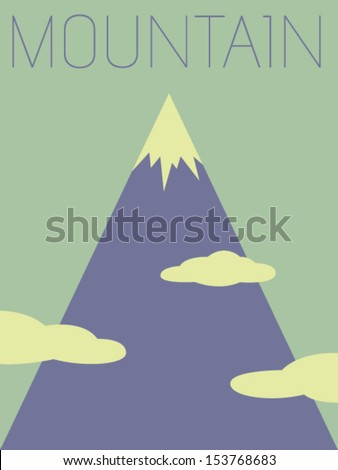 Vector Minimal Design - Mountain - stock vector