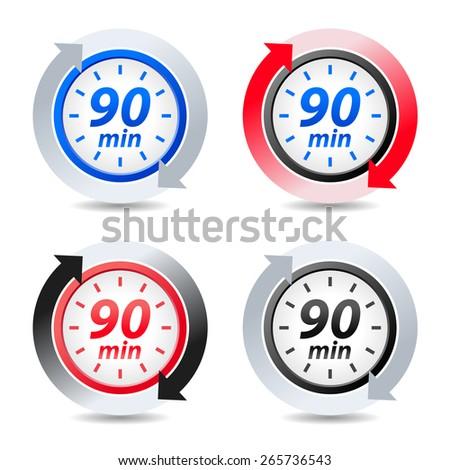 Vector 90 minutes - stock vector