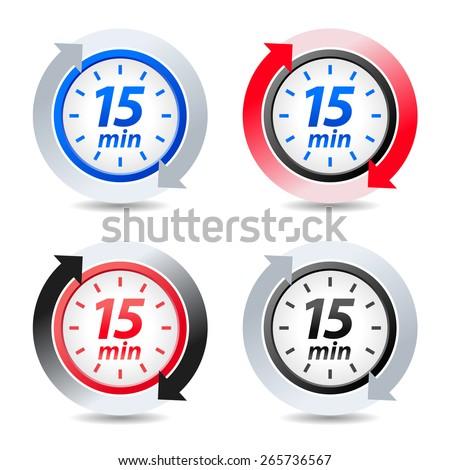 Vector 15 minutes - stock vector