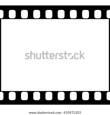 Vector 35 mm Film Strip Illustration on White Background. Abstract Film Strip design template. Film Strip Seamless Pattern. - stock vector